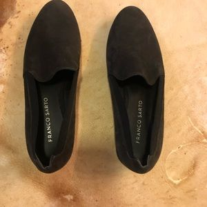 Franco sarto black flats loafer size 6